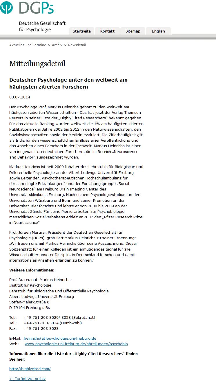... Pressemitteilung der Deutschen Gesellschaft für Psychologie)